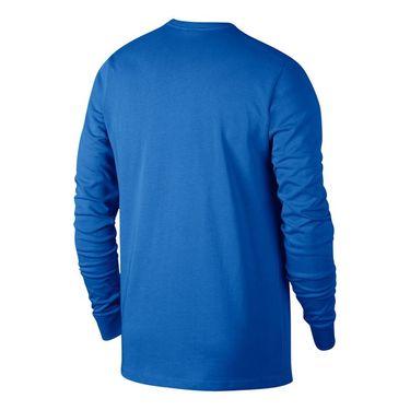 Nike Court Heritage Long Sleeve - Signal Blue/White
