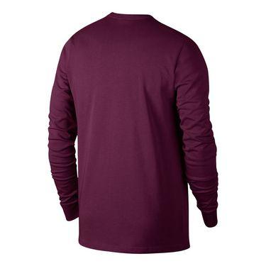 Nike Court Heritage Long Sleeve - Bordeaux/White