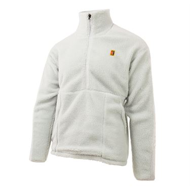 Nike Court 1/2 Zip Fleece - Pure Platinum/White