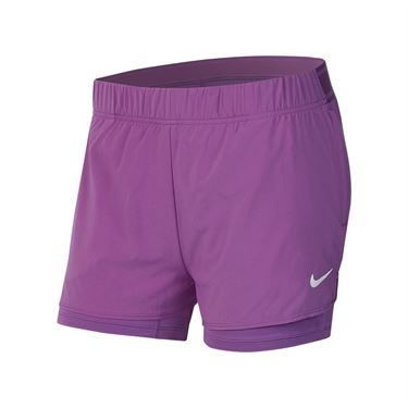 Nike Court Flex Short Womens Purple Nebula/White 939312 532