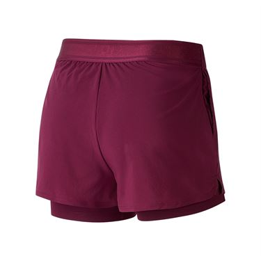 Nike Court Flex Short Womens Bordeaux/White 939312 610