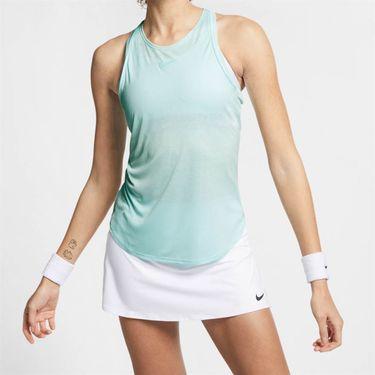 Nike Court Dri Fit Tank - Teal Tint/White