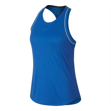 Nike Court Dry Tank - Signal Blue/White