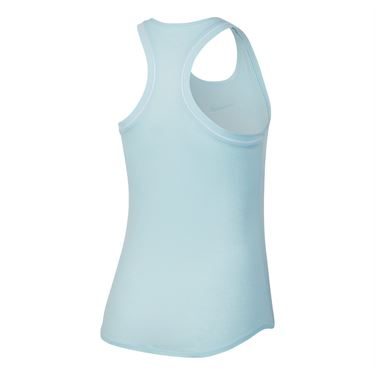 Nike Court Dry Tank - Topaz Mist/White