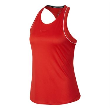 Nike Court Dry Tank - Habanero Red/White