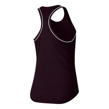 Nike Court Dri Fit Tank - Burgundy Ash/White