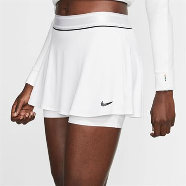 Nike Court Dri Fit Skirt Womens White/Black 939318 101