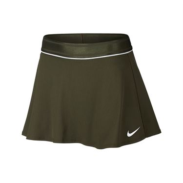 Nike Court Dry Flounce Skirt - Olive Canvas/White