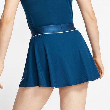Nike Court Dri Fit Skirt Womens Valerian Blue/White 939318 432