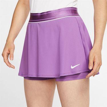 Nike Court Dri Fit Skirt Womens Purple Nebula/White 939318 532