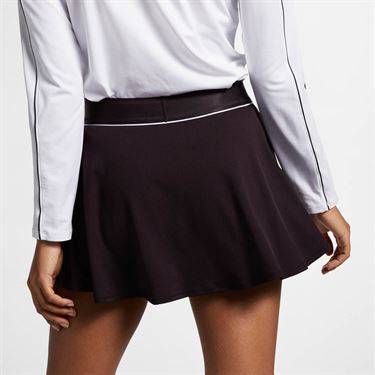 Nike Court Dry Flounce Skirt - Burgundy Ash/White