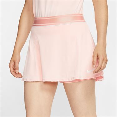 Nike Court Dri Fit Skirt Womens Washed Coral/White 939318 664