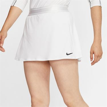 Nike Court Dri Fit Skirt Tall Womens White 939320 104T