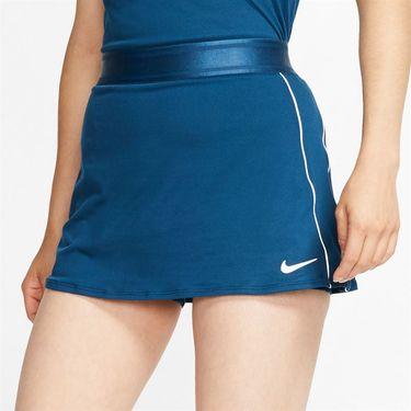 Nike Court Dri Fit Skirt Womens Valerian Blue/White 939320 432