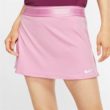 Nike Court Dri Fit Skirt Womens Pink Rise/White 939320 629