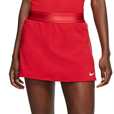 Nike Court Dri Fit Skirt Womens Gym Red/White 939320 687