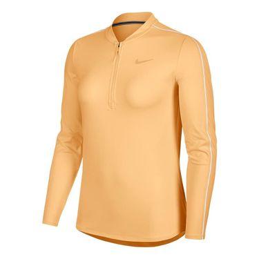 Nike Court Dry 1/2 Zip Long Sleeve Top - Celestial Gold/White