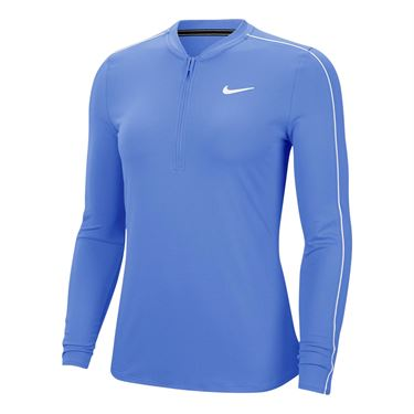 Nike Court Dry 1/2 Zip Long Sleeve Top Womens Royal Pulse/White 939322 478