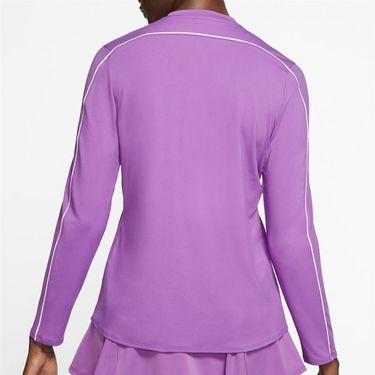 Nike Court Dry 1/2 Zip Long Sleeve Top Womens Purple Nebula/White 939322 532