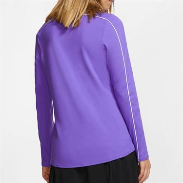 Nike Court Dry 1/2 Zip Long Sleeve Top - Psychic Purple/White