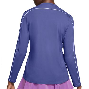 Nike Court Dry 1/2 Zip Long Sleeve Top Womens Rush Violet/White 939322 554