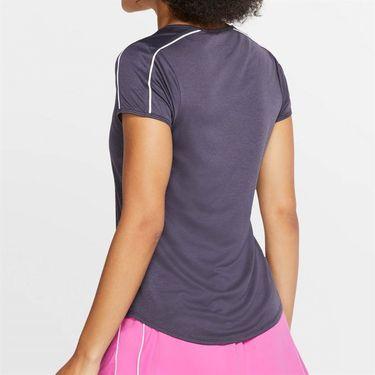 Nike Court Dry Top - Gridiron/White