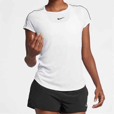 Nike Court Dry Top - White/Black
