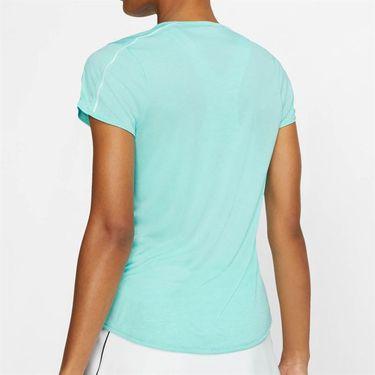 Nike Court Dry Top - Light Aqua/White