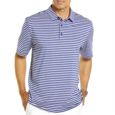 IBKUL Melange Stripe Polo Mens Ink 94114 INK