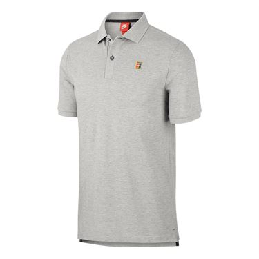 Nike Court Heritage Polo - Dark Grey Heather