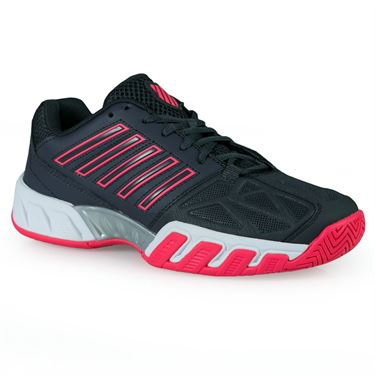 K Swiss Bigshot Light 3 Womens Tennis Shoe - Magnet/Neon Pink/White