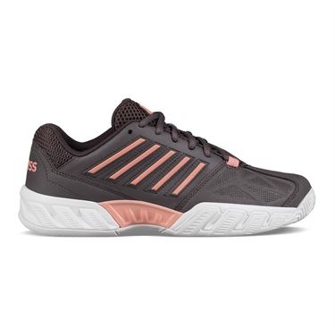 K Swiss Bigshot Light 3 Womens Tennis Shoe - Plum Kitten/Coral Almond/White