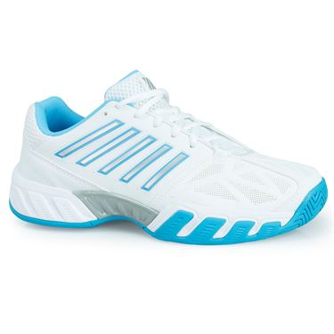 K Swiss Big Shot Light 3 Womens Tennis Shoe - White/Aquarius/Silver