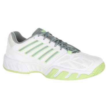 K Swiss Bigshot Light 3 Womens Tennis Shoe - White/Paradise Green/Abyss