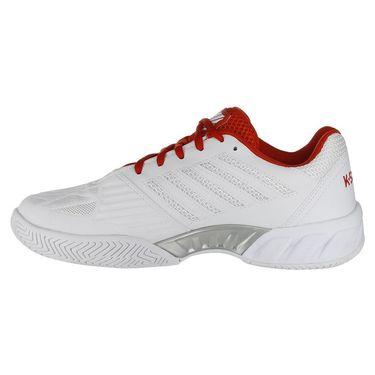 K Swiss Bigshot Light 3 Womens Tennis Shoe - White/Fiesta/Silver