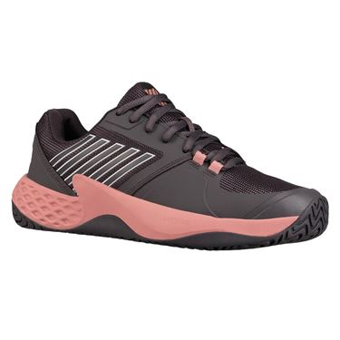 K Swiss Aero Court Womens Tennis Shoe - Plum Kitten/Coral Almond/White