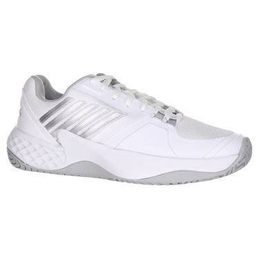 K Swiss Aero Court Womens Tennis Shoe - White/Highrise/Silver