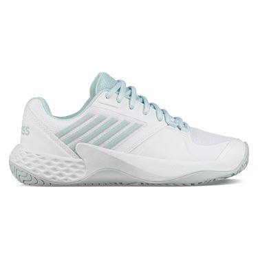 K Swiss Aero Court Womens Tennis Shoe - Pastel Blue/Black/White