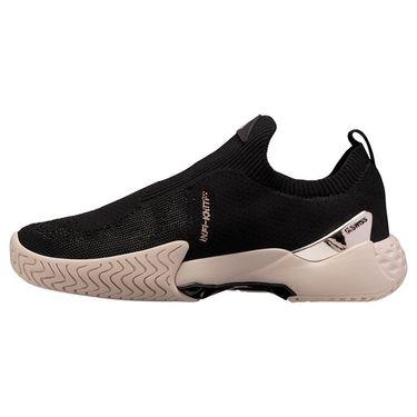 K Swiss Aero Knit Womens Tennis Shoe Black/Pink Tint/Rose Gold 96137 058