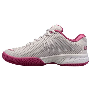 K Swiss Hypercourt Express 2 Womens Tennis Shoe Nimbus Cloud/Cactus Flower/White 96613 034