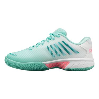 K Swiss Hypercourt Express 2 Womens Tennis Shoe Aruba Blue/White Soft Neon Pink 96613 439