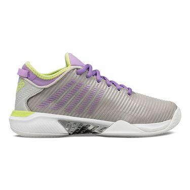 K Swiss Hypercourt Supreme Womens Tennis Shoe Silver/Fairy Wren/Sharp Green 96615 034