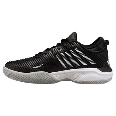 K Swiss Hypercourt Supreme Womens Tennis Shoe Black/White/Highrise 96615 039