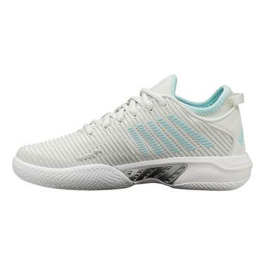 K Swiss Hypercourt Supreme Womens Tennis Shoe Barely Blue/White/Blue Glow 96615 084