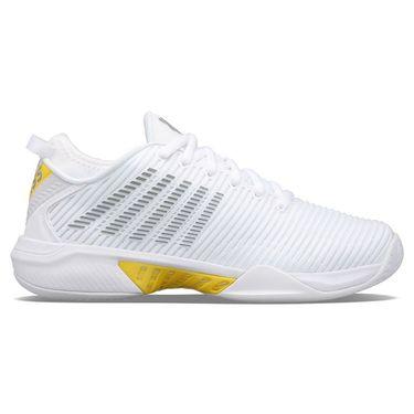K Swiss Hypercourt Supreme Womens Tennis Shoe White/Buttercup/Lunar Rock 96615 123