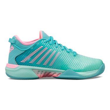 K Swiss Hypercourt Supreme Womens Tennis Shoe Aruba Blue/Maui Blue/Soft Neon Pink 96615 442