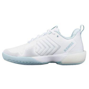 K Swiss Ultrashot 3 Womens Tennis Shoe White/Blue Glow 96988 175