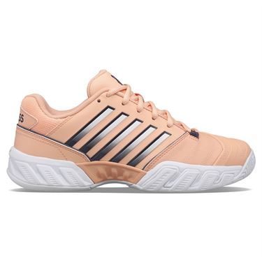 K Swiss Bigshot Light 4 Womens Tennis Shoe Peach Nectar/Graystone/White 96989 606