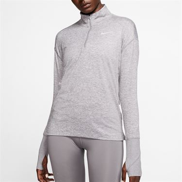 Nike Element 1/2 Zip Long Sleeve Top Womens Gunsmoke/Atmosphere Grey/Heather AA4631 036