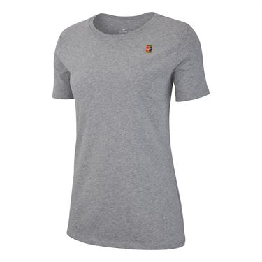 Nike Court Heritage Tee - Dark Grey Heather